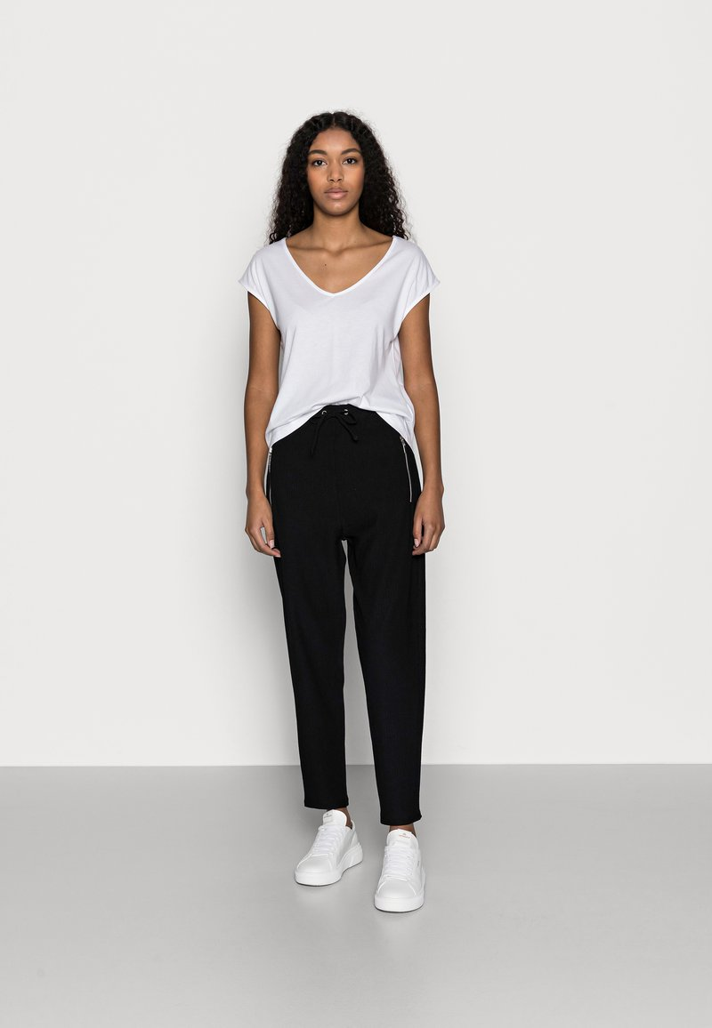 Anna Field Petite - 2 PACK - Jednoduché triko - black/white