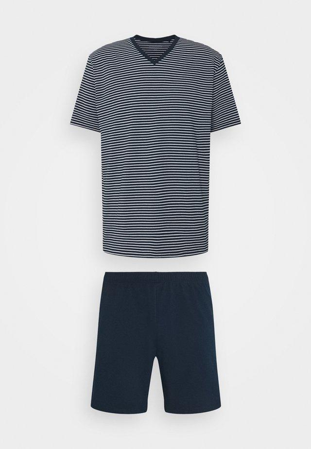 SCHLAFANZUG KURZ SET - Pyjamas - admiral