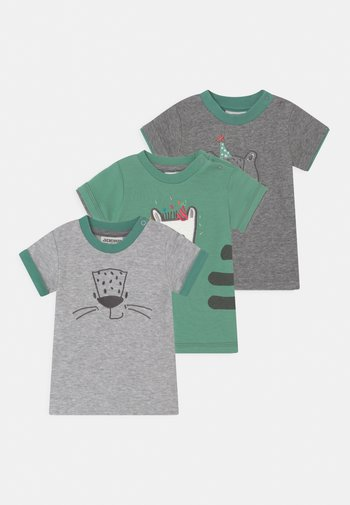 LEOPARDY 3 PACK - Print T-shirt - grey/green