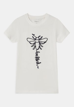 NMFDABEE - Print T-shirt - snow white