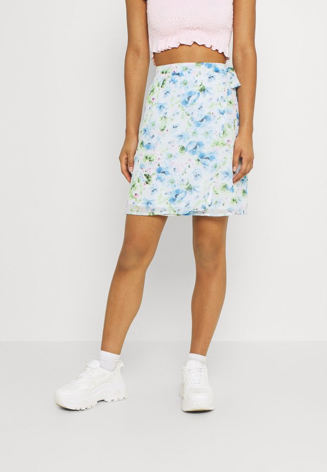 VIMAMU TIE WRAP SKIRT - Mini skirts  - cloud dancer/water