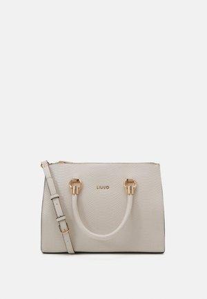 SATCHEL DOUBLE ZIP - Handbag - alabaster