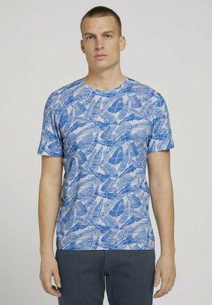Printtipaita - victory blue leaf design