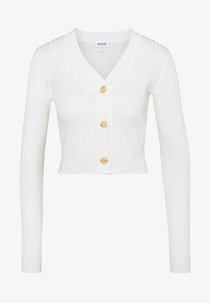 SKINNY CROPPED - Cardigan - white