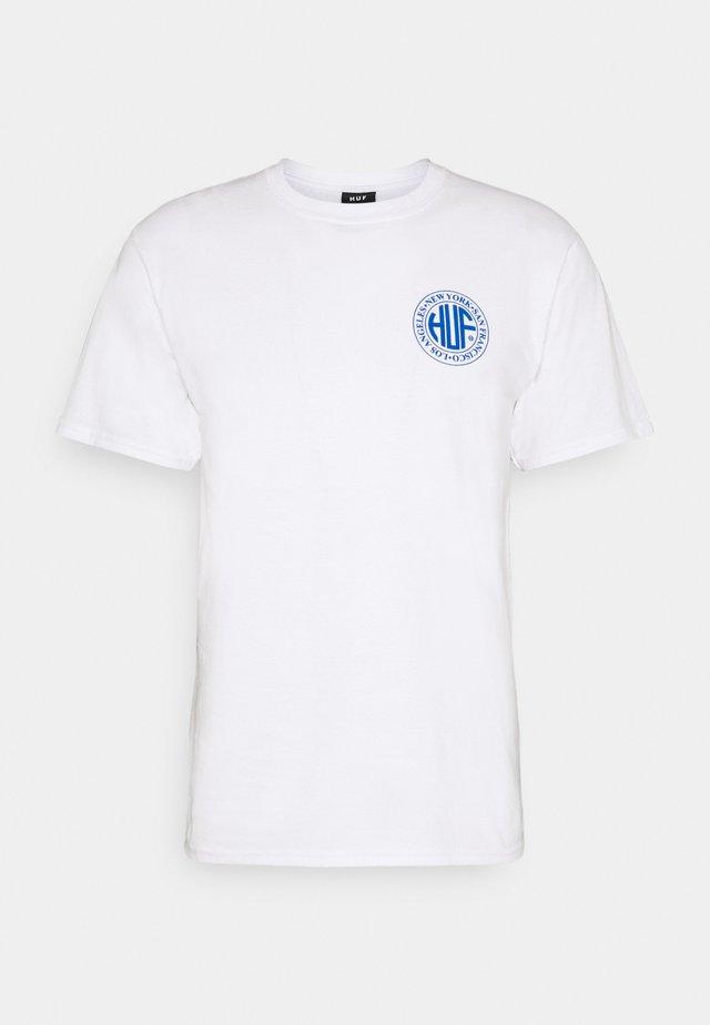 REGIONAL PUFF TEE - Print T-shirt - white