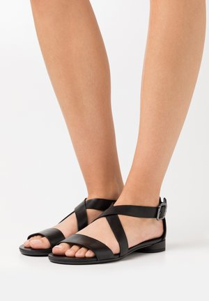 FLAT - Sandals - black santiago