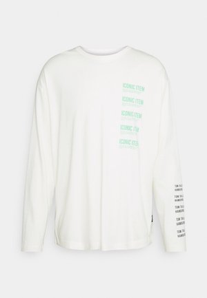 LONG SLEEVE WITH PRINT - Long sleeved top -  white