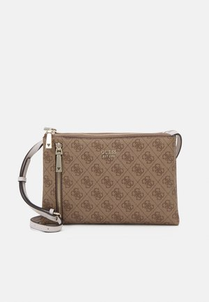 NAYA DOUBLE ZIP CROSSBODY - Across body bag - light brown