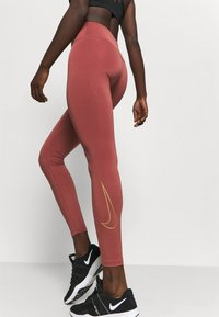 Nike Performance - ONE GOOD - Leggings - claystone red/gold - 3