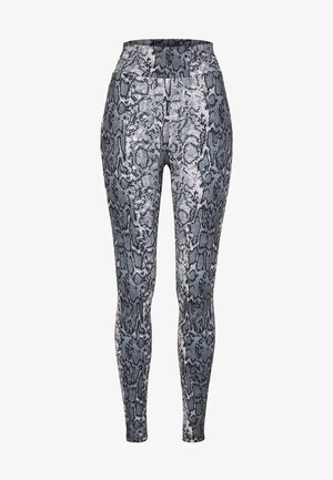 Leggings - Trousers - grey snake