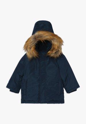 Kabát zprachového peří - navy blue