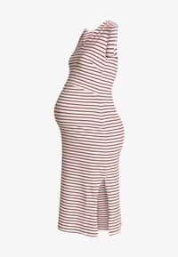 Boob - SIMONE SLEEVELESS DRESS - Robe en jersey - off-white/red - 4