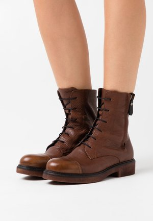 Lace-up ankle boots - king almond