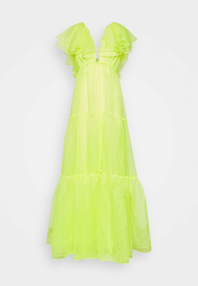 CHRISHELLE DRESS - Galajurk - acid yellow