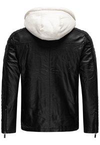 Red Bridge - ILLINOIS CHICAGO - Faux leather jacket - schwarz-weiß - 1