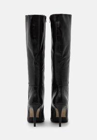 Steven New York - EFFINA - Kozačky na vysokém podpatku - black - 3