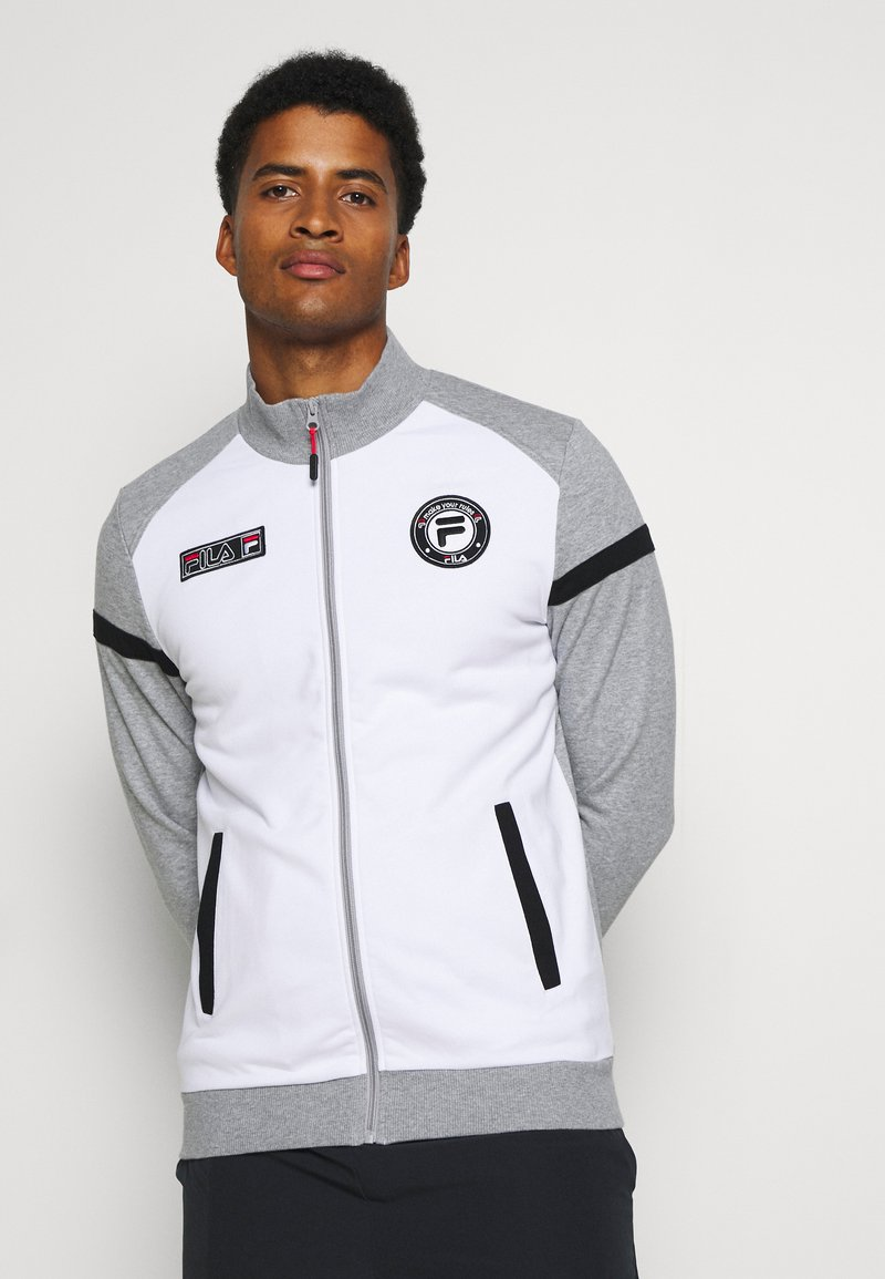 Fila - SMUDO - Zip-up hoodie - light grey melange/white