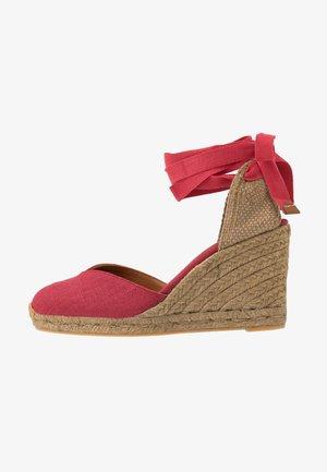 CHIARA - Sandály na vysokém podpatku - rojo