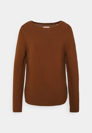 LONGSLEEVE STAND UP - Jumper - chestnut brown