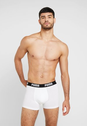 BASIC 2 PACK - Pants - white / black
