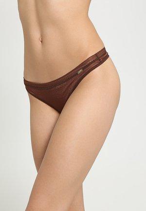 GLOSSIES THONG - Thong - rich brown