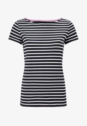 Print T-shirt - navy/naturweiß