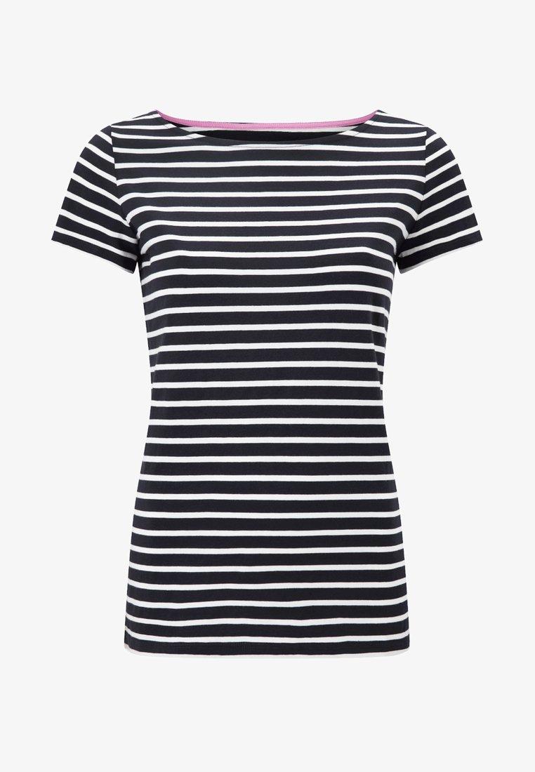 Boden - Print T-shirt - navy/naturweiß