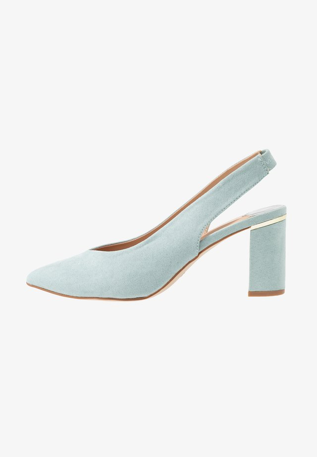 WIDE FIT EMILY SLING  - Classic heels - green