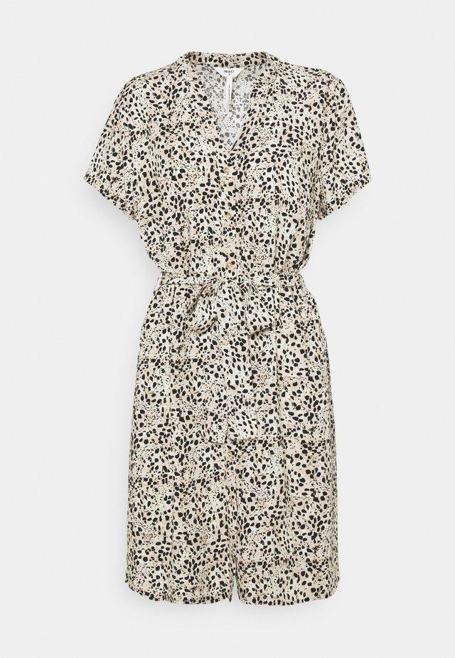 OBJHESSA BIRDY DRESS - Korte jurk - sandshell