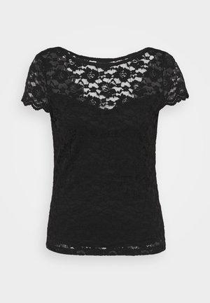 VIKALILA CAPSLEEVE - T-shirts med print - black