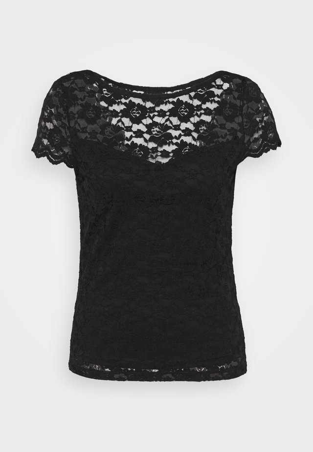 VIKALILA CAPSLEEVE - Print T-shirt - black