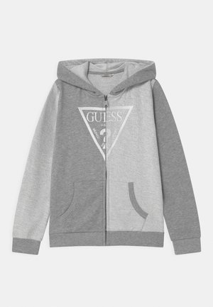 JUNIOR HOODED ACTIVE - Mikina na zip - light heather grey