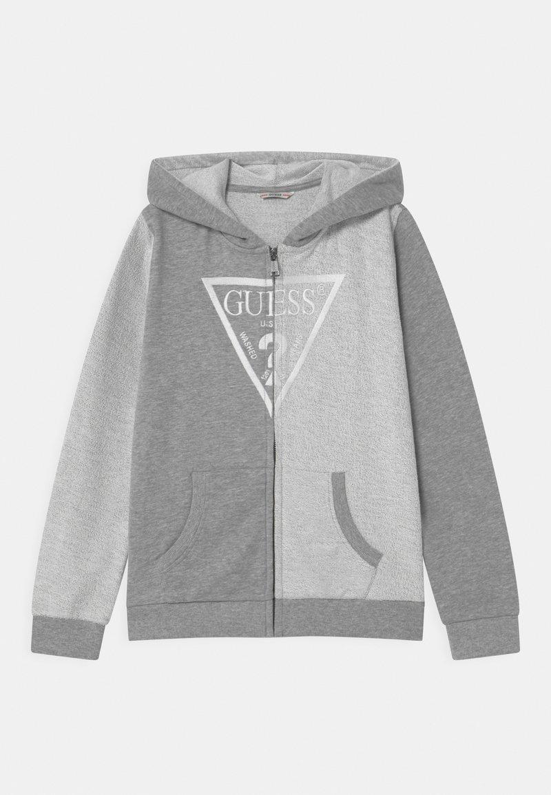 Guess - JUNIOR HOODED ACTIVE - Zip-up sweatshirt - light heather grey