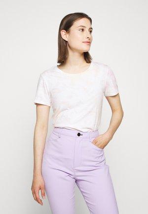 VINTAGE CREWNECK TIE DYE - T-shirts med print - peach/pink