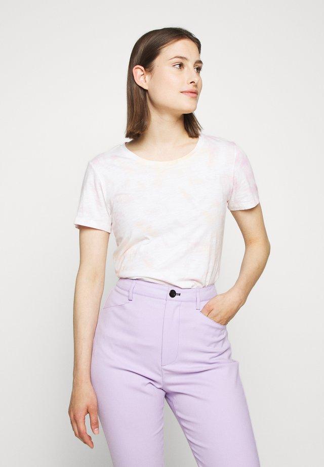 VINTAGE CREWNECK TIE DYE - Camiseta estampada - peach/pink