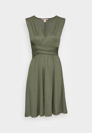 CACHE COEUR PRINTED DRESS - Trikoomekko - dark green