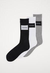 Calvin Klein Underwear - TRAVEL BAG 3 PACK - Ponožky - grey - 0