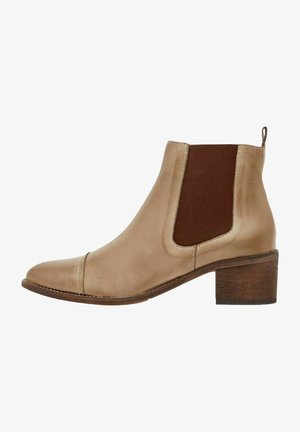 Ankle boots - lightbrown