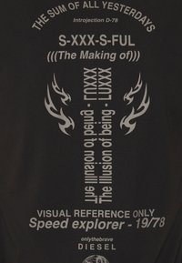 Diesel - T-DIEBIND T-SHIRT - Camiseta estampada - black - 2