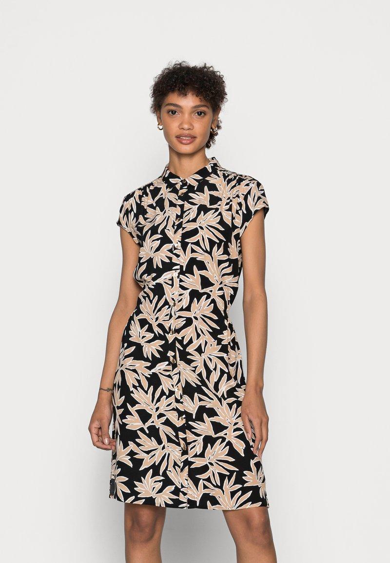 comma - Shirt dress - black/beige