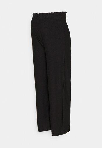 PCMCURLI CROPPED PANTS - Trousers - black