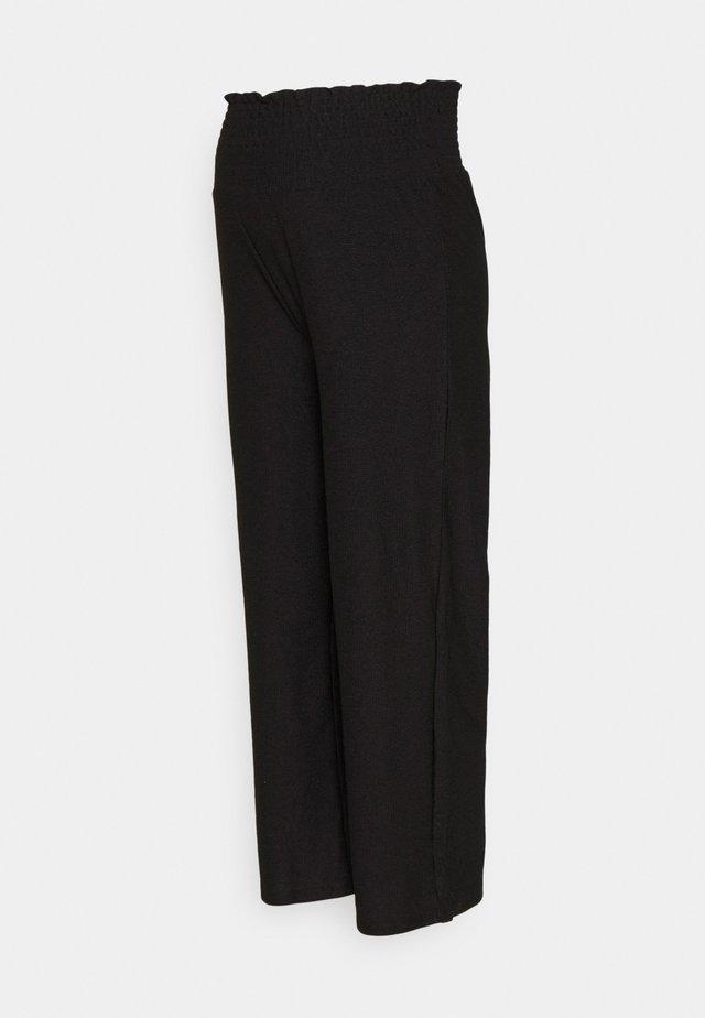 PCMCURLI CROPPED PANTS - Pantalon classique - black