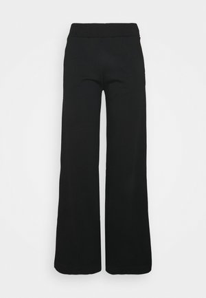 EXCLUSIVE HELLA SLIT PANTS - Tracksuit bottoms - black