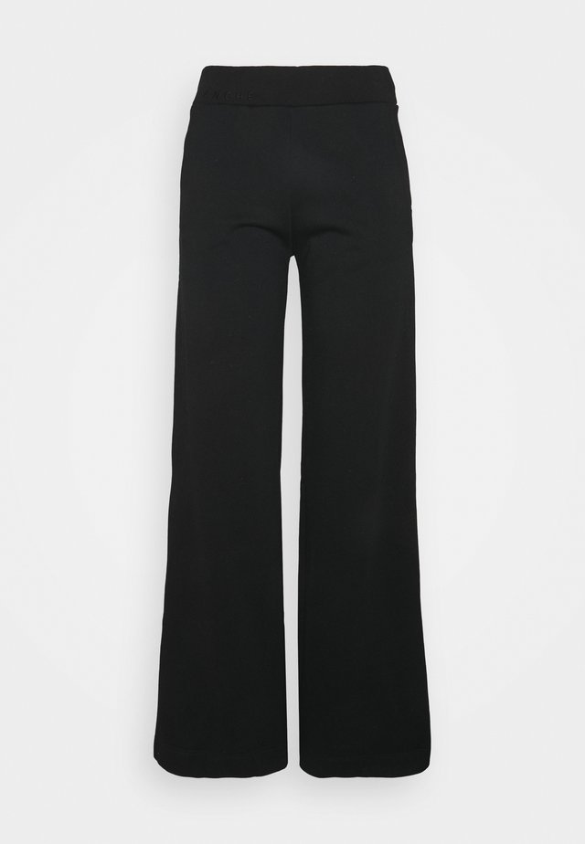 EXCLUSIVE HELLA SLIT PANTS - Trainingsbroek - black