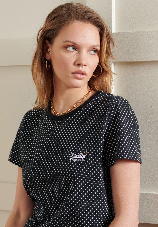 T-shirt imprimé - black dot