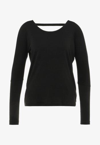 DRAPEY V BACK - Maglietta a manica lunga - black