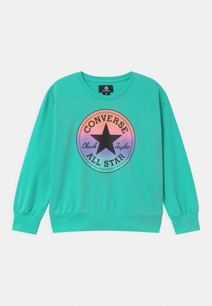 RELAXED CHUCK PATCH CREW - Mikina - aurora green