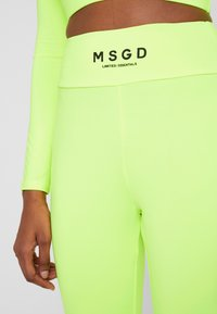 Missguided Tall - WAISTBAND - Leggings - lime - 5