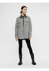 Object - OBJVERA - Summer jacket - medium grey melange - 1