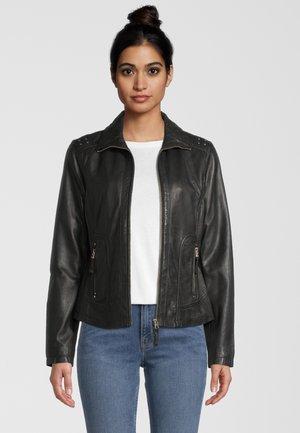 AGNES 7E - Leather jacket - black